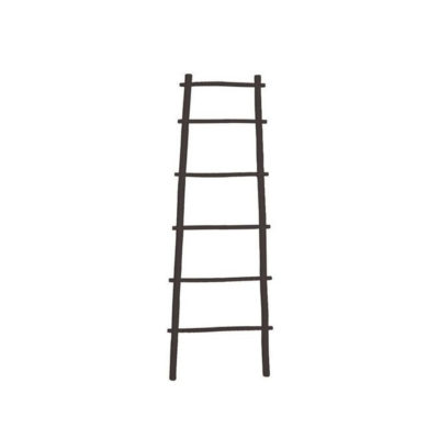 Bamboo Ladder Black