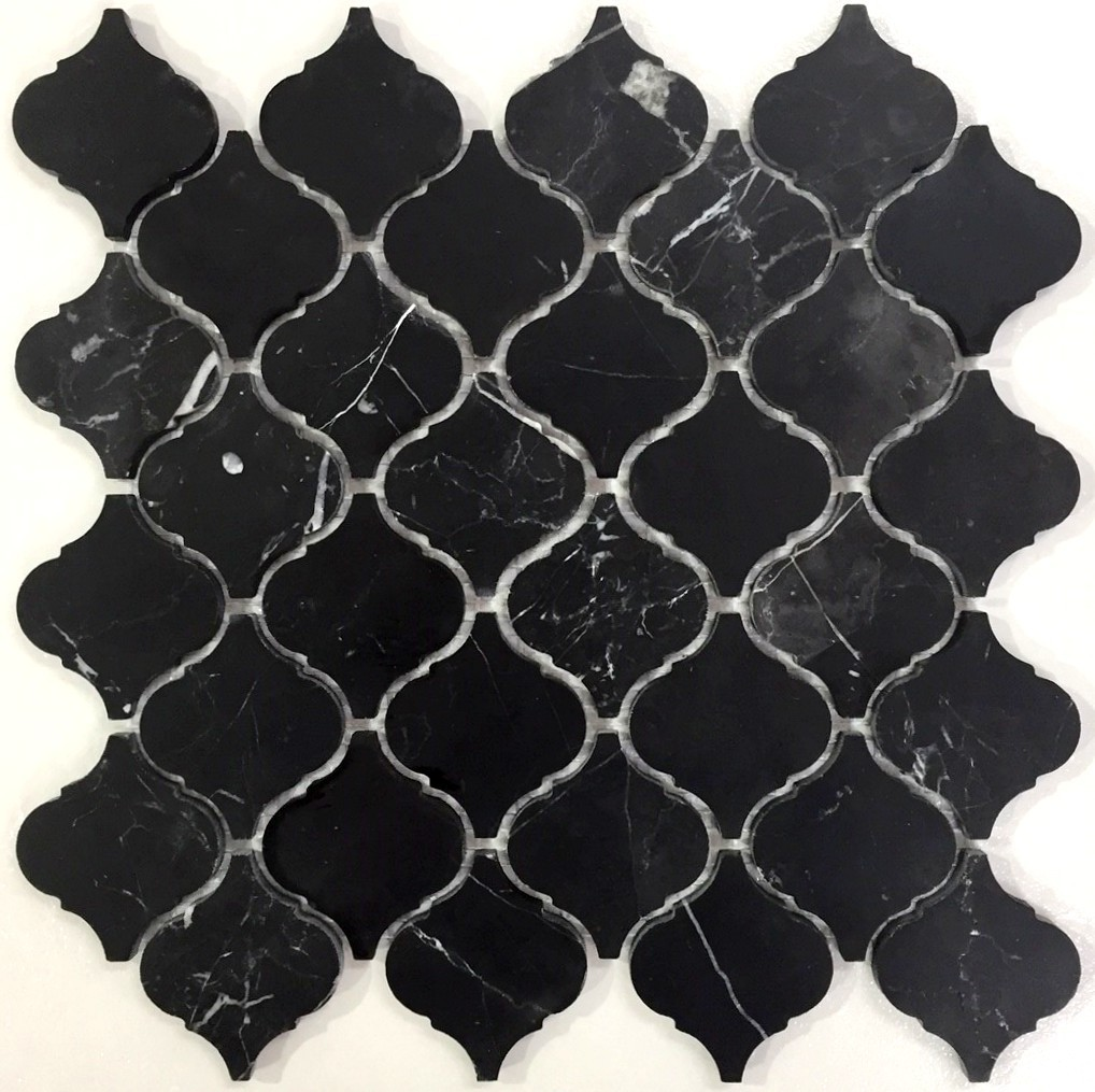 Authentic marble arabesque marquina partridgedesign for Arabesque style decoration
