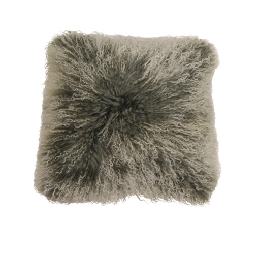 Mongolian frosted grey cushion