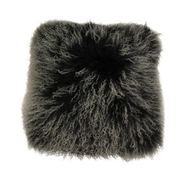 Mongolian frosted black cushion