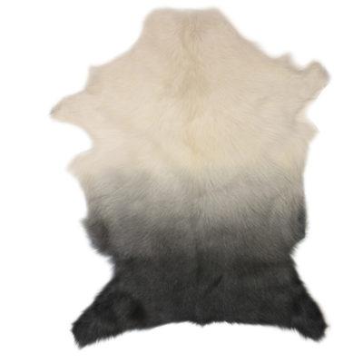 Goat Fur Rug Grey Ombre