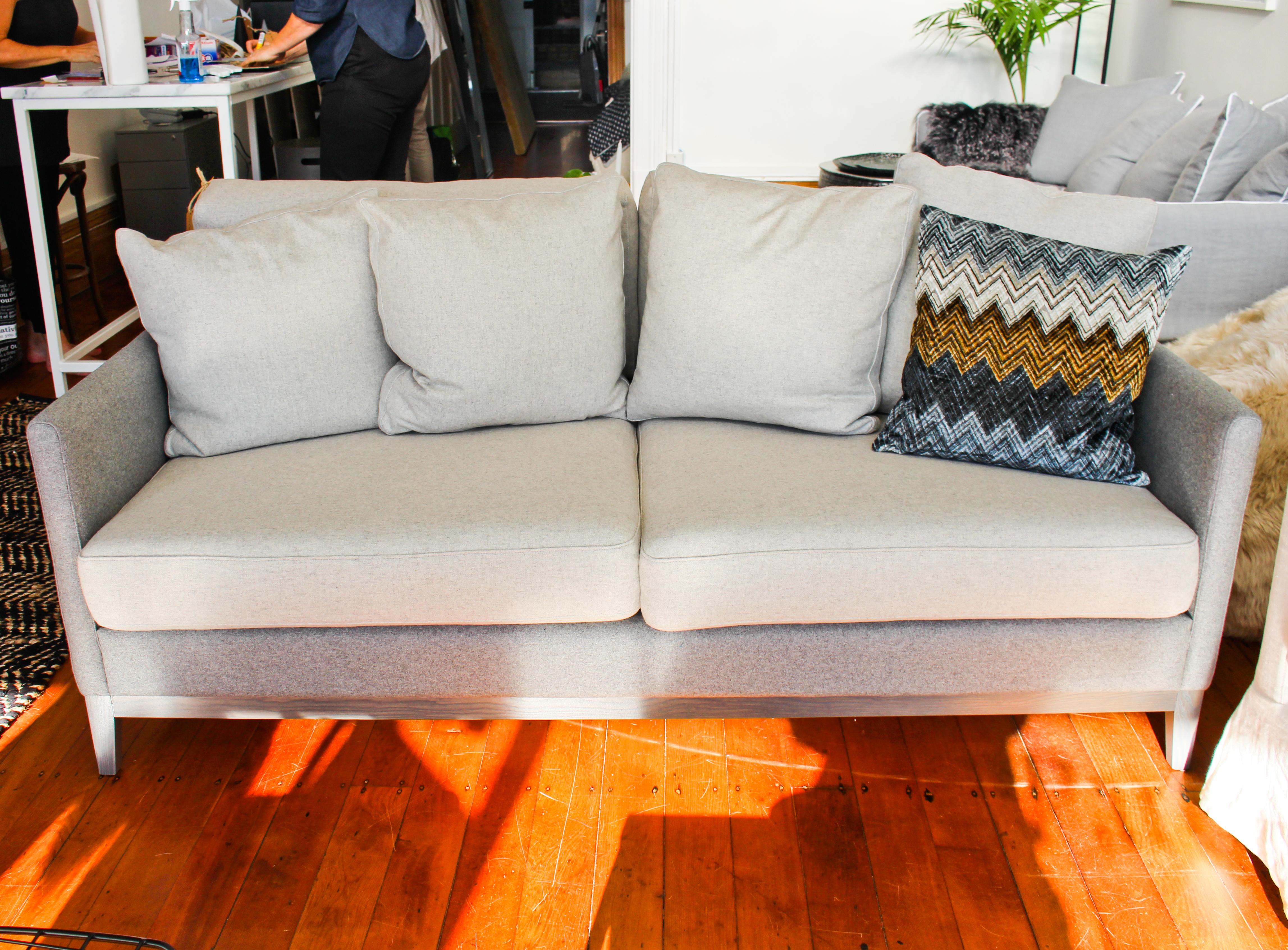 Felted Wool Milan Sofa Partridgedesign