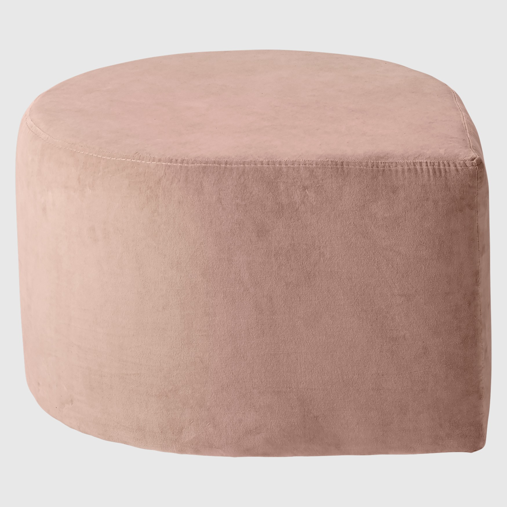 stilla blush velvet pouf partridgedesign. Black Bedroom Furniture Sets. Home Design Ideas