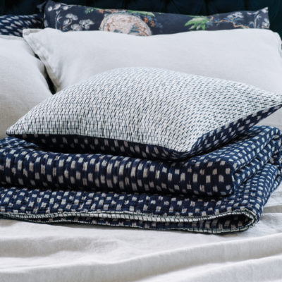 Kasuri Coverlet and Cushion HR