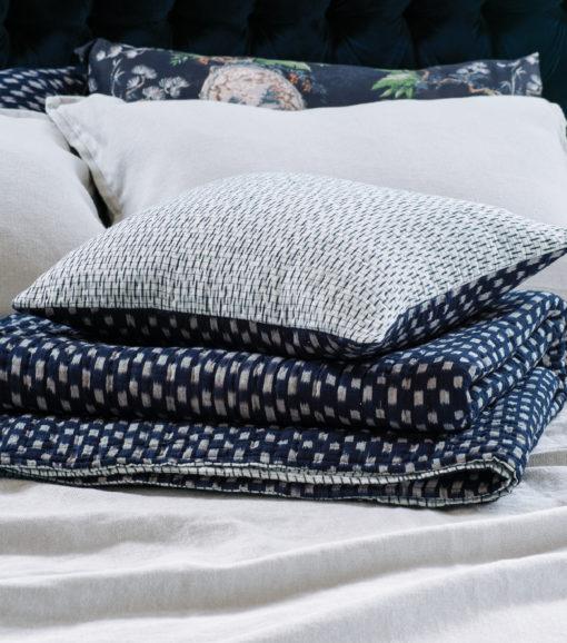 Kasuri Coverlet and Cushion HR