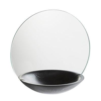 pocket mirror large black
