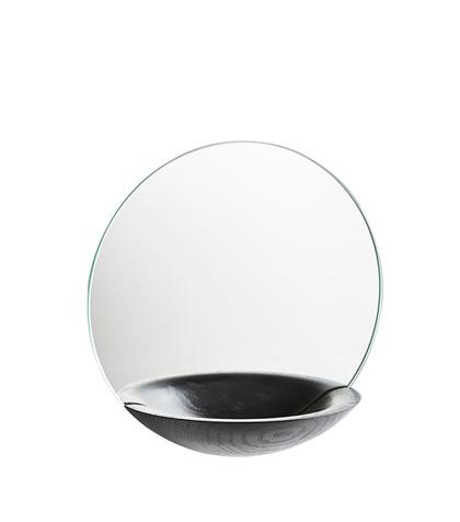 pocket mirror small black
