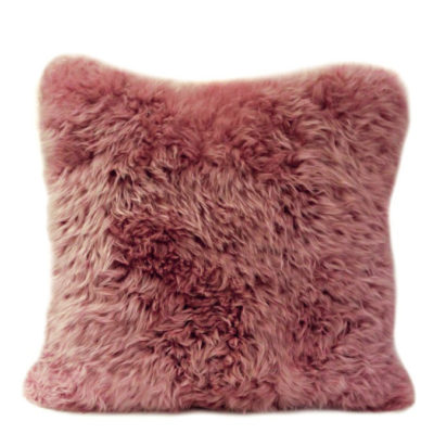 Wool dusty rose cushion