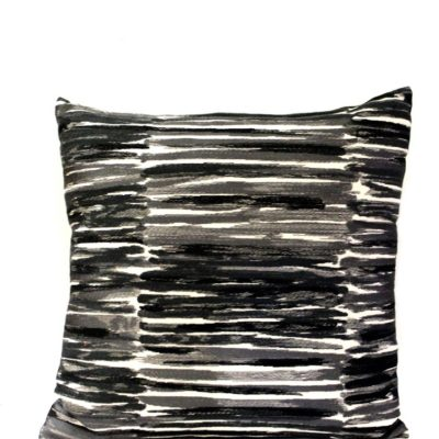 interior decoration, muse rush hour cushion. Black and white design.