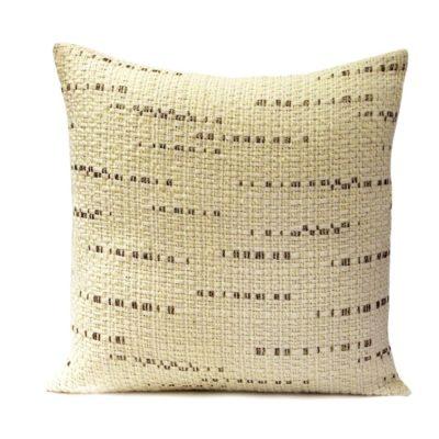 Cream with gold flecks cushion